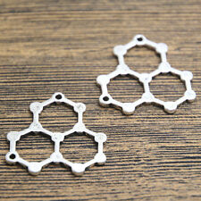 12pcs Water Molecule Charms Silver Plated Water Molecule Charm pendant 28x29mm