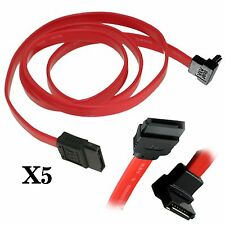 "5 Pack 16"" Serial ATA SATA Straight to Right Angle DATA HDD Hard Drive Cable"