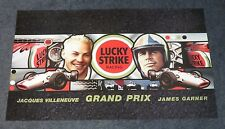 LUCKY STRIKE RACING PROMO POSTER GRAND PRIX JACQUES VILLENEUVE / James raccogliere