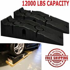Vehicle Ramps Set Car Ramp Truck Work Service Garage Lift 12,000 lb Capacity 1d