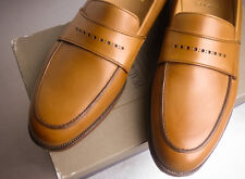 Brooks Brothers Peal Co Brown Calf Loafers Shoes ~ New ~ MSRP $598 NIB 10D