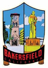 Bakersfield California  CA  Vintage 1950's - Style Travel Decal/Sticker
