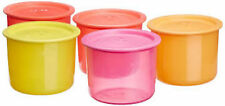 Tupperware aire de un toque sello hermético contenedores, 600 ml, (4+1 gratis) Colores Surtidos
