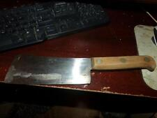 VNTG. Case XX Butcher Knife WIDE Blade Carbon Steel Pre Dates MEAT CLEVER RARE