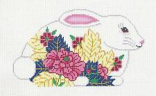 Tobacco Leaf Bunny Rabbit handpainted Needlepoint Canvas by JP Needlepoint