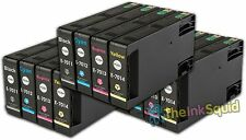 12 T701 non-OEM Ink Cartridges For Epson WorkForce Pro WP-4525DNF WP-4535DWF