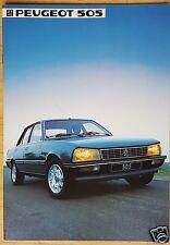 Peugeot 505 GR GL GTI GLD GTD turbo - Prospekt 1984 (deutsch)