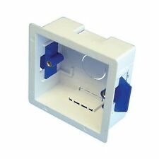 Dry Lining Pattress Back Box Single 1 Gang 35mm White