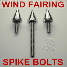 CHROME BULL DOG SPIKE WIND FAIRING BOLTS 2014-17 HARLEY STREET & ELECTRA GLIDE