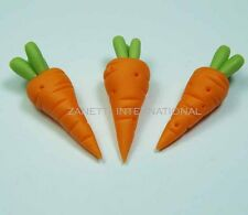Set of 3 Dollhouse Miniature Carrots * Doll Mini Food Kitchen Vegetables Carrot