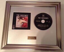 THE VACCINES - WHAT DID YOU EXPECT SIGNED/AUTOGRAPHED FRAMED PRESENTATION. RARE