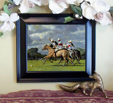 LaFontaine POLO Horse Pony Art Print Vintage Style Framed