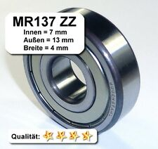 10 Stk. Radiales Rillen-Kugellager MR137ZZ - 7 x 13 x 4 mm