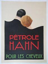 """Vintage Art Deco Poster """"Petrole Hahn"""" on Linen"""