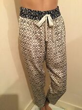 LADIES SEA NY NEW YORK SILK TROUSERS 7/8 PANTS SIZE S UK 8 10 US 4 6 D 34 36