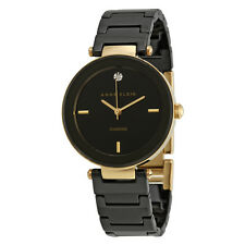 Anne Klein Black Dial Ceramic Ladies Watch 1018BKBK