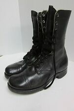 VINTAGE PRE VIETNAM MILITARY BLACK PARATROOPER COMBAT JUMP ARMY BOOTS 7W