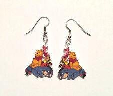 Winnie Pooh Earrings Eeyore TIgger Piglet Charms