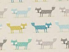 FRYETT'S Foxy color foglia di tè Tessuto Remnant 100% COTONE 50cm x 40cm