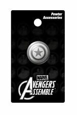 Marvel Comics Captain America Shield Logo Metal Pewter Lapel Pin, NEW UNUSED