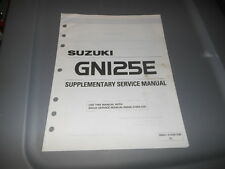 Factory OEM Suzuki 1995 GN125E S Supplementary Service Manual