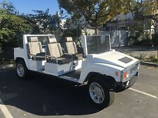 white 2015 acg hummer limo Golf Cart 6 passenger seat lsv street legal 190 miles
