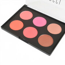 NEW 6 Colors Professional Beauty Makeup Cosmetic Blush Blusher Powder Palette