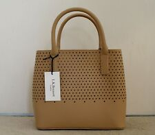 Designer L K Bennett Camel Coloured Leather Small Tote Handbag (RRP £275)