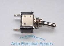 CLASSIC CAR toggle switch 2 position 3 terminals METAL CHROME with LED AMBER