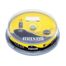 10 MAXELL CD-RW 80MIN 700 MB 4x cd-rewritable SPINDLE / CAKE BOX