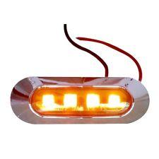 12V 24V Amber Car LED Side Marker Tail Light Lamp Clearance Trailer Truck YK