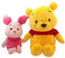 Disney Store Winnie The Pooh & Piglet Extra Large Giant Plush Soft Toy Set NEW