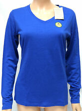 Seg'ments Australian Merino Wool V Neck T-shirt Top, XL Blue, Layering