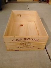 French Wine Crate, 12 Bottle French Wood Wine Box Case Wine Crates,