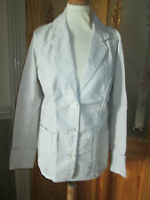 cotton traders beige linen blend blazer jacket size 10 brand new with tags