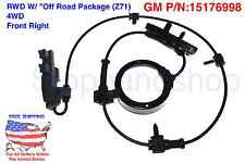 New ABS Wheel Speed Sensor RWD w/ Off Road Suspension Z71 4WD Front Passenger FR
