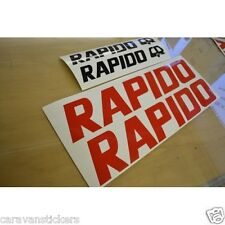 RAPIDO Trailer - (CUT VINYL) - Name Stickers Decals Graphics - SET OF 4