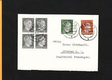 Nazi Germany Hitler Head Correct Rate 6 Stamps Berlin 1942 Commercial Mail m