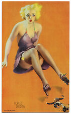 FORCED LANDING Gil Elvgren CHEESECAKE PIN-UP Mutoscope Card RARE (1940's)