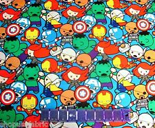 MAREL COMIC BABIES HULK THOR IRON MAN & MORE on COTTON FABRIC Priced By The YARD