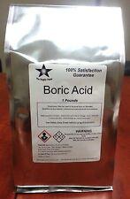 Boric Acid (Orthoboric Acid, Boracic Acid) 1 Lb Pack
