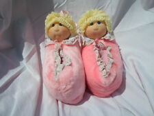 """Cabbage Patch Kids Doll Slippers 9"""" Plush Soft Toy Stuffed Animal"""