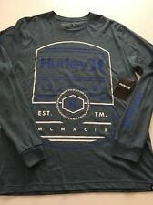 New Hurley Mens Graphic Tee Street Long Sleeve T Shirt Size Medium Retail $35
