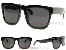 """Large Mens Wayfarers"" BLACK oversized sunglasses guys wrap around glasses locs"