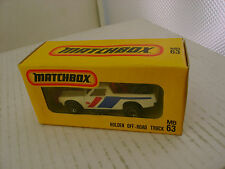 MATCHBOX MB63 JAPAN HOLDEN PICK-UP STP RUFF TREK NEW IN BOXES