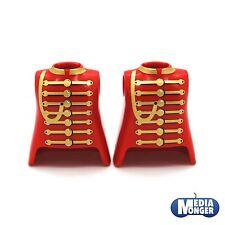 playmobil® 2 x Oberkörper rot gold tailliert   Piraten   Garde   Page   Zirkus