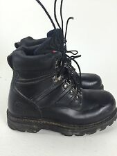 Honcho Black Leather Steel Toe Work Boots Mens Size 5.5 Fast Free Shipping