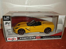 2014 CHEVEOLET CORVETTE CONVERTIBLE MAISTO PREMIERE DIE CAST CAR 1:24 NEW IN BOX