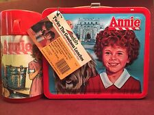 Vintage 1981 Aladdin Annie Metal Lunchbox with Thermos & Tag