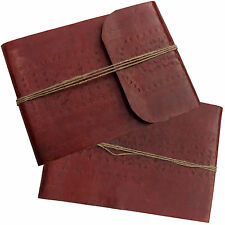 "13"" Antique Leather Handmade Embossed Vintage Journal Sketchbook Diary Notebook"